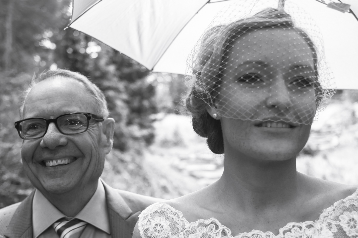 Bride and father in special moment