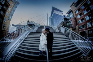 Engagement at millennium bridge denver