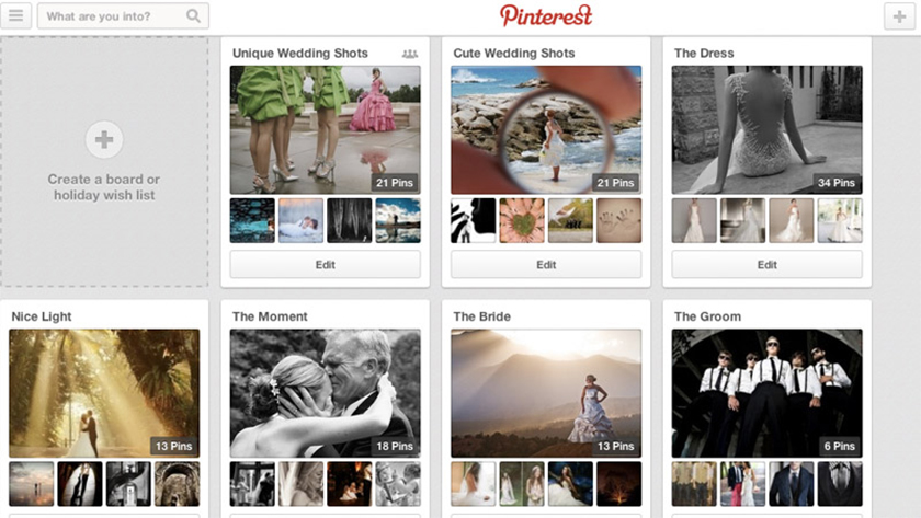 Pinterest for wedding photographer's business
