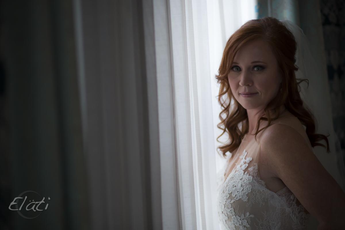 pretty red headed bride